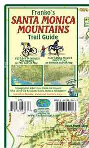Details about Santa Monica Mountains California Trail Guide Waterproof Map  by Franko Maps