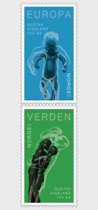 Noorwegen-2019-Gutav-Vigeland-postfris-mnh