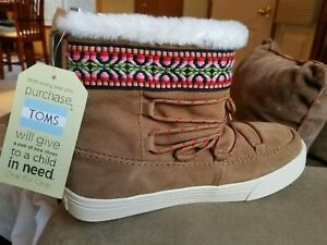 e40bb1b4e3d Toms Alpine Tribal Wedding Boot Size 9.5 Brand New 889556310203