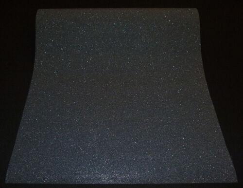 """1 Rolle moderne Vliestapete einfarbig schwarz mit Glitzer /""""Easy Wall/"""" 02403-10"""
