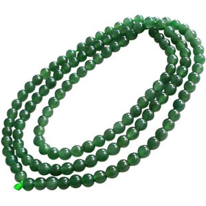 Natural-jade-Myanmar-A-cargo-oil-green-transparent-green-necklace