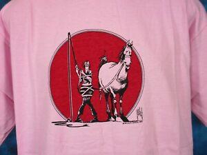 NOS-vintage-80s-HORSE-CARTOON-WILEY-MILLER-T-Shirt-LARGE-XL-cowboy-joke-soft