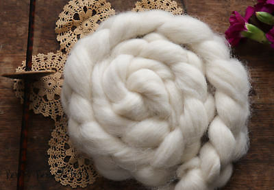 Felting 1 LB Natural Ecru Undyed Wool Combed Top Roving for Spinning