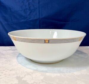 Bernardaud-Limoges-Porcelain-Kent-Bleu-Saladier-Salad-Bowl-Insalatiera-NEW