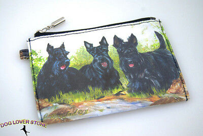 Scottish Terrier Dog Bag Zippered Pouch Travel Makeup Coin Purse