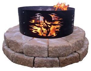 Skull Fire Ring Fire Pit Outdoor Living Skulls Outdoor