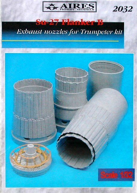 Aires 1 32  Sukhoi Su-27 Flanker B Exhaust Nozzles for Trumpeter kit