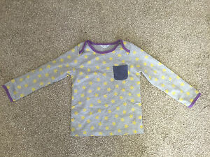 Baby-Ex-Boden-Grey-with-Yellow-Stars-Top-Size-2-3-Y-C1-1