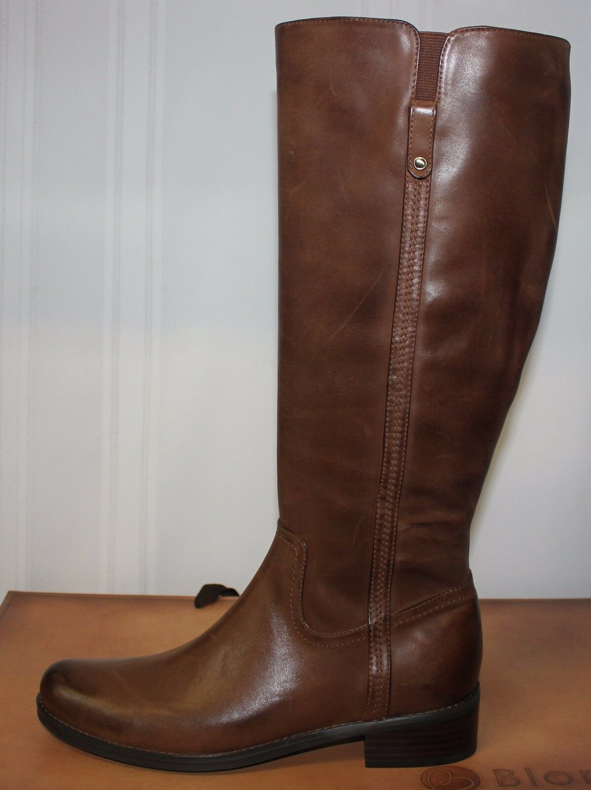Blondo Women's Vanylle Boots Waterproof Honey Brown Brushed Brushed Brushed Leather New a34068