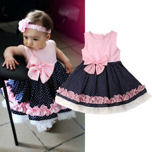 Baby Newborn Girls Toddler Princess Dress Tutu Swing Pageant Wedding Party Dress