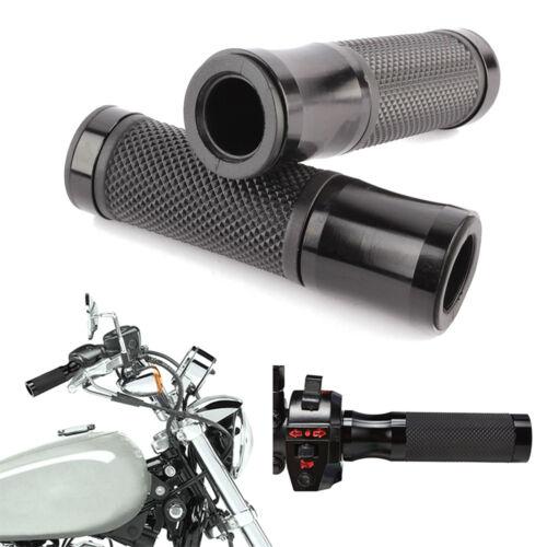 """MOTORCYCLE RACING BIKES CUSTOM 7//8/"""" 22mm HANDLEBAR RUBBER GEL HAND GRIPS BLACK"""