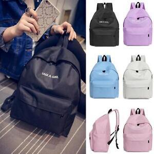 Boys-Girls-Unisex-Canvas-Rucksack-Backpack-School-Book-Shoulder-Bag-Laptop-Bag