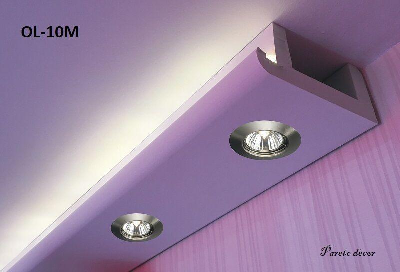 40 Meter LED LichtStrahl Spots Profil für indirekte Beleuchtung XPS OL-10 Weiß