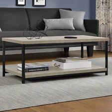 Altra Furniture Elmwood 4-post Coffee Table in Brown Textured Finish-Medium Oak