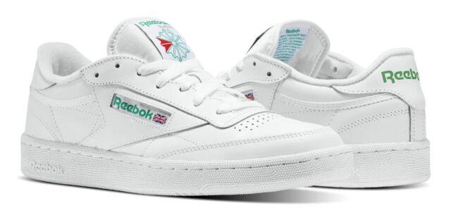 81a93918 Reebok Classic Club C 85 White, Green Mens Sneakers Tennis Shoes Item AR0456