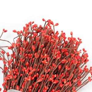 20pcs//Bunch Natural Dried Flower Berry Stem Rattan Home Wedding Flower Decors