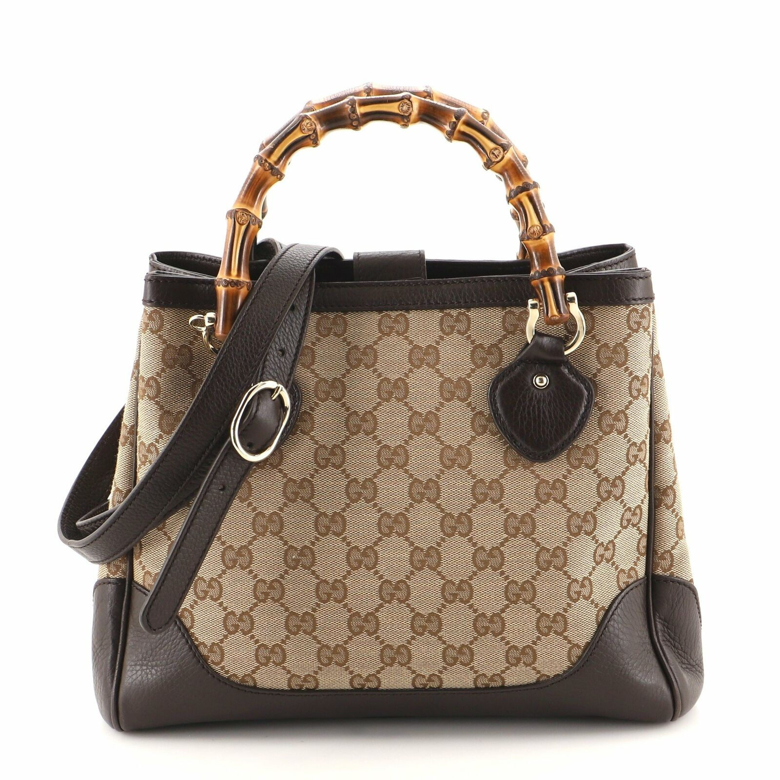 Gucci Diana Bamboo Top Handle Tote GG Canvas Small - image 1