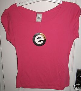 Ellemenno-Pink-Berry-Cozy-Tee-Shirt-Top-Size-S-Small