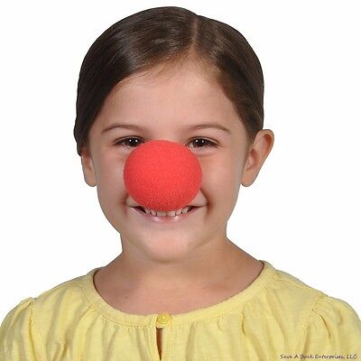 12 NEW RED FOAM CLOWN NOSES CIRCUS CLOWN COSTUME ACCESSORY CARNIVAL PARTY FAVORS