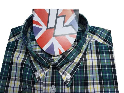 Warrior UK England Button Down Shirt TOOTS Hemd Slim-Fit Skinhead Mod