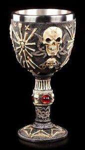 Skull-Chalice-Master-Des-Schmerzes-Gothic-Wine-Goblet-Drinking-Cup-Decor