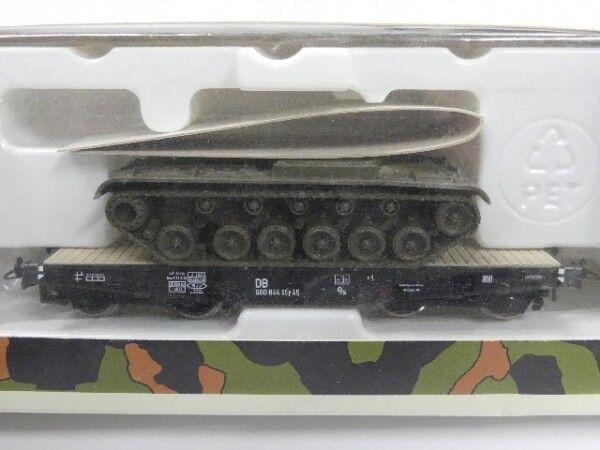 1 87 ROCO MINITANKS poids lourds de la DB avec chars  858