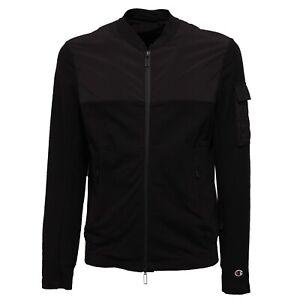 sale retailer f5d44 be9c9 Details about 1455Z giubbotto felpa uomo PAOLO PECORA FOR CHAMPION black  sweatshirt jacket