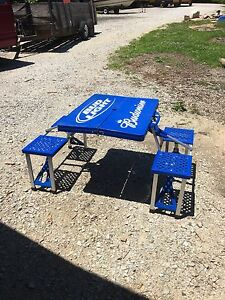Merveilleux Image Is Loading Budweiser Bud Light Portable Folding Picnic Table