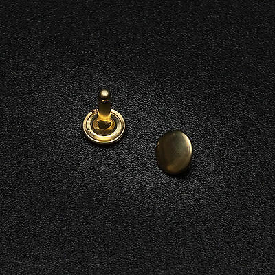 Remaches De Cuero 8x9mm doble tapa fuerte tubular cabeza zurcido plateado dorado