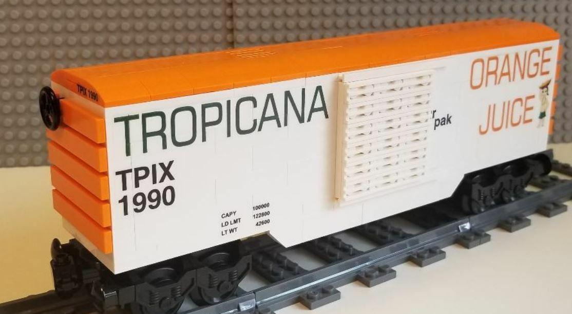 Lego Tren Vagón Tropicana 01 por favor lea la descripción del artículo
