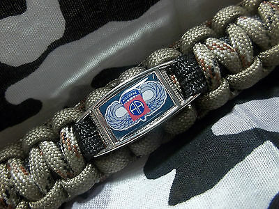 U.S Army 82nd Airborne Division AFGHANISTAN COMBAT VETERAN Paracord Key Fob
