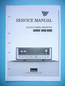 Service Manual-Anleitung für Sansui 9090//8080