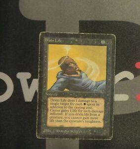 1 Drain Life - Beta MtG Magic Black Common old school 93/94