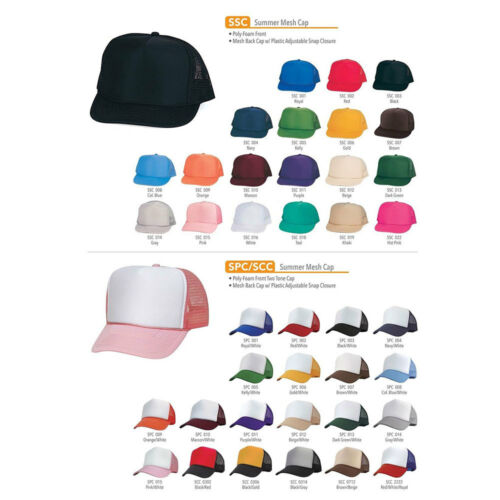 35 Lot Trucker Baseball Hats Caps Foam Mesh Blank Adult Youth Kids Wholesale