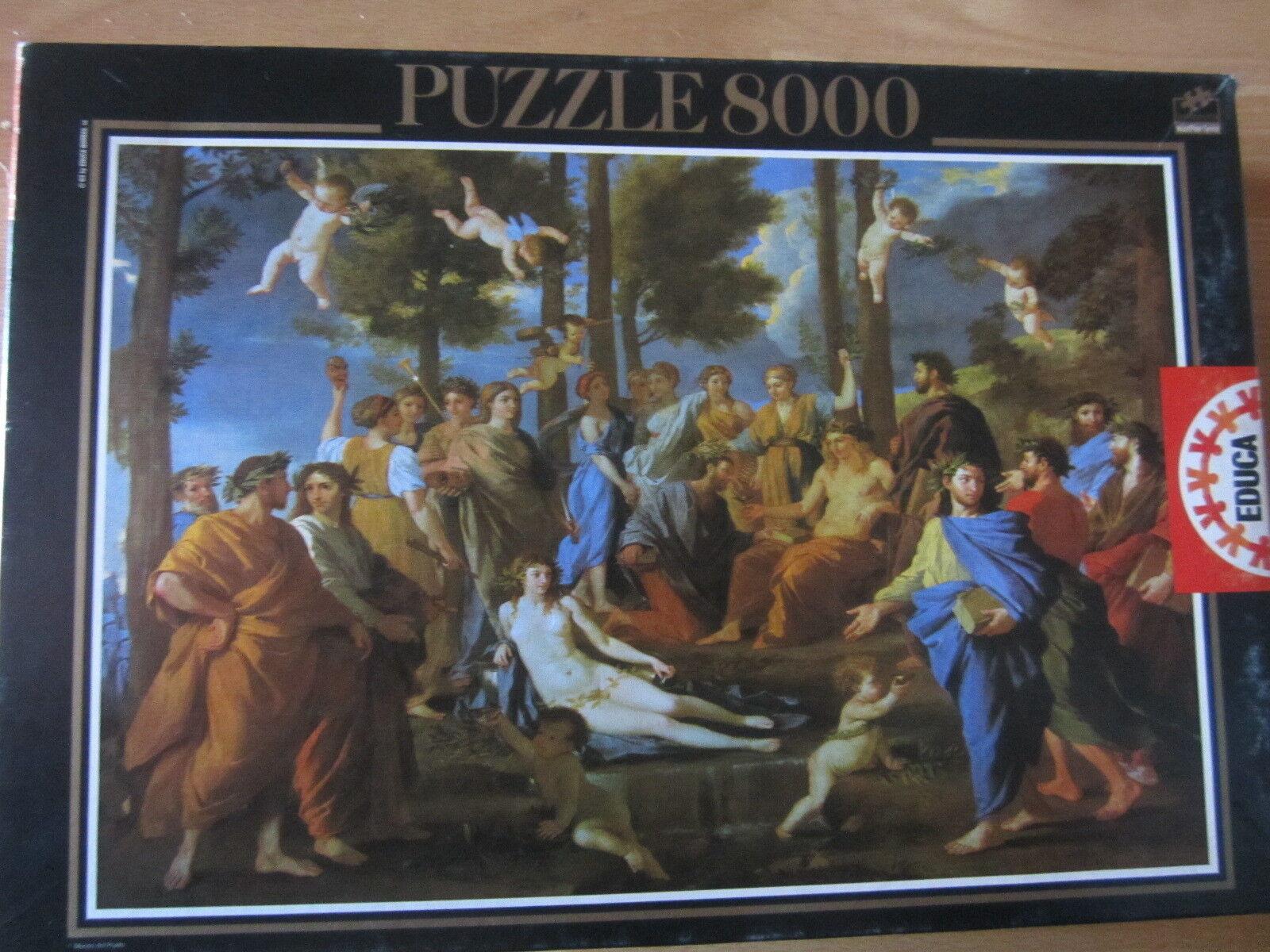 PUZZLE EDUCA  8000 -EL PARNASO- DE NICOLAS POUSSIN  spedizione veloce in tutto il mondo