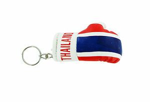 Keychain Mini boxing gloves key chain ring flag key ring cute THAILAND