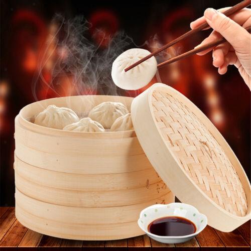 Chinesischer Bambusdampfer Einreihiger Asiatischer Dampfkochtopf 15cm