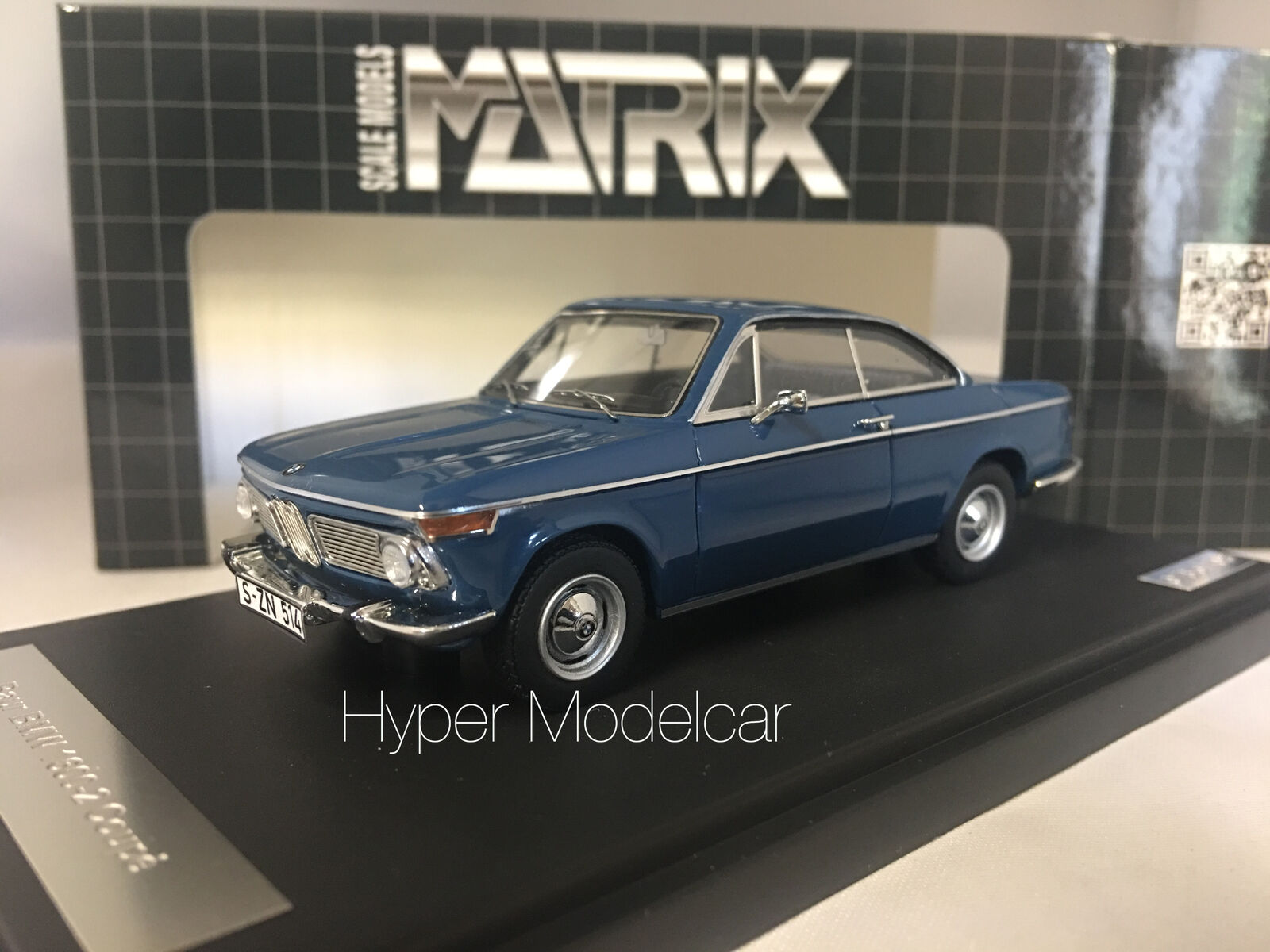 MATRIX SCALE MODELS 1 43 BMW 1602 BAUR COUPÈ 1967 azul ART. MX30202-011