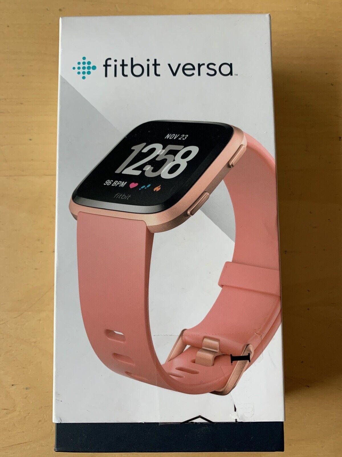 FITBIT VERSA SmartWatch Activity Fitness Tracker - Peach/Rose Gold BUNDLE FB504 activity bundle fb504 Featured fitbit fitness gold smartwatch tracker versa