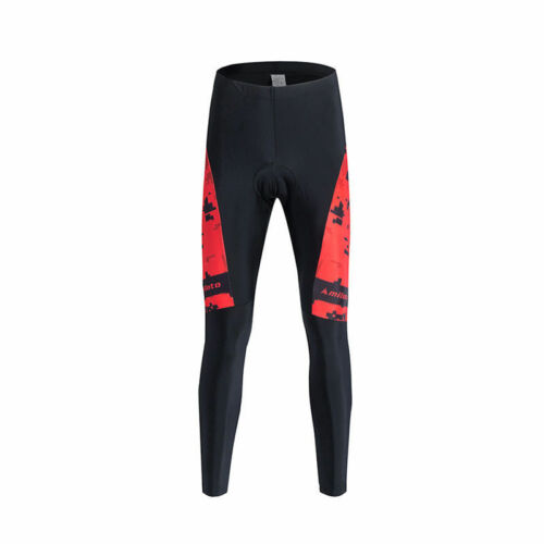 Men/'s Bike Bicycle Pants Coolmax Padded Cycling Tights Cycle Long Pants S-XXXL
