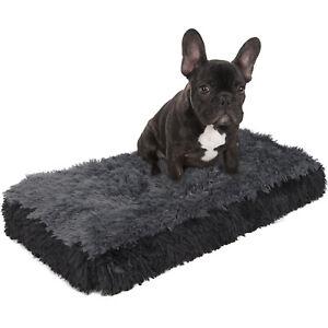 Dog-amp-Cat-Pet-Bed-Bolster-Foam-Deluxe-Bedding-Cuddler-Fluffy-Pillow-Small-Black