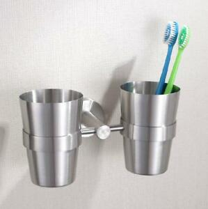 Dual Cups Holder Tumbler Wall Mount
