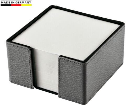 Handmade in Germany Notizzettelbox Rindnappaleder in 5 Farben Marke EuroStyle