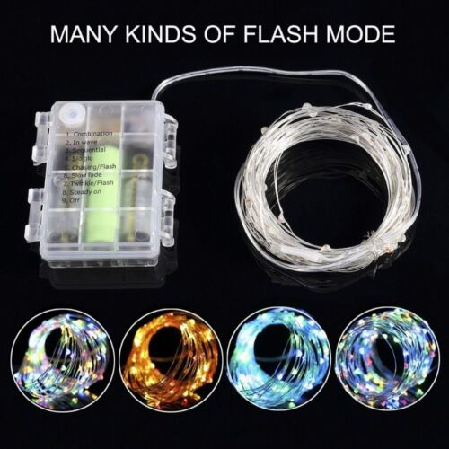Remote Control 16.4-65.6FT String Battery Operated Copper Wire Fairy Light Xmas