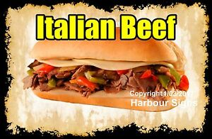 DECAL-Choose-Your-Size-Italian-Beef-Food-Sticker-Sign-Restaurant-Concession