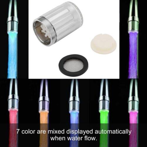 7 Colors Glow LED Light Water Stream Faucet Tap Basin RGB Shower Faucet Tap mJ