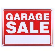 "Garage Sale Red/White Flexible Plastic Sign 12""x9"" (S-3)"