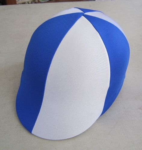 Horse Helmet Cover ALL AUSTRALIAN MADE Royal blue /& White Any size you need