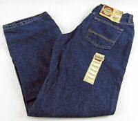 Womens Ce Schmidt Red Flannel Lined Relaxed Fit Work Wear Jeans Sz 10 X 34