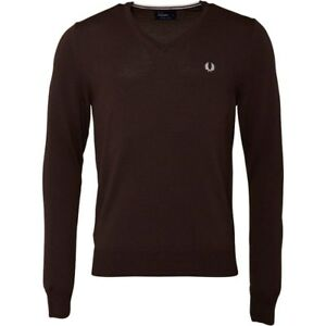 dbba326b41dcc Fred Perry Classic V-Neck Sweater Men s Pullover Sweatshirt - 100 ...